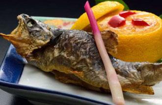 岩魚の塩焼き900円(税別)